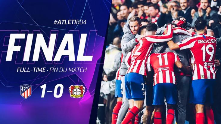Bajnokok Ligája:Nyert az Atlético Madrid, döntetlen Harkivban
