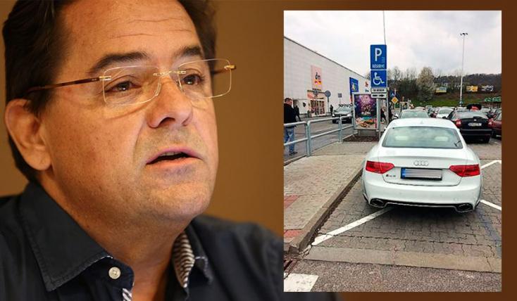 Kočner mindig mozgássérült-parkolóban parkol, nehogy meghúzza az Audit