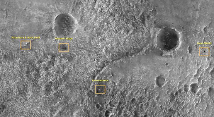 A NASA marsjárója által készített felvételek megerősítették, hogy a Jezero-kráter egykoron tó volt