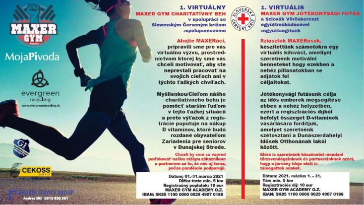 Zajlik a Maxer Gym virtuális jótékonysági futás - jelentkezz te is!