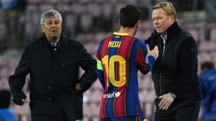 Ronald Koeman védelmébe vette Messit