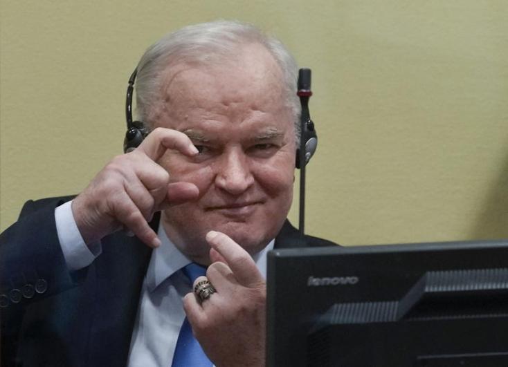 Elutasította a hágai nemzetközi bíróságRatko Mladicfellebbezését, élete végéig börtönben marad