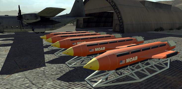 Legpusztítóbb nem nukleáris bombáját első ízben vetette be az USA!