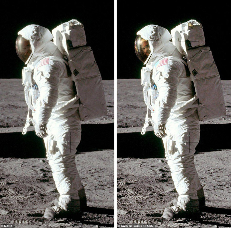 Különleges fotót hoztak nyilvánosságra a Holdra szállásról