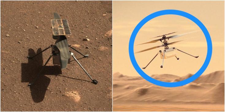 Úgy reptetgetik az amerikaiak a minihelikopterüket sokmillió kilométerről, mintha csak egy drón lenne a fejük felett