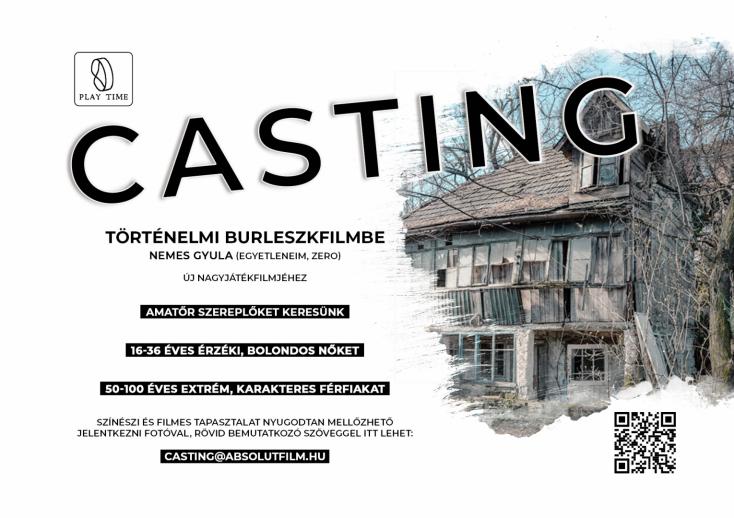 Dunaszerdahelyen is válogatnak szereplőket Nemes Gyula filmjéhez