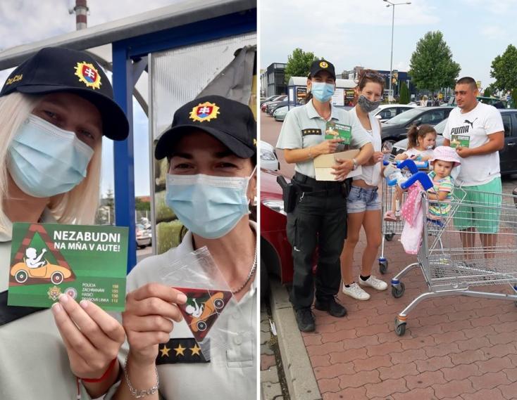 """""""Ne feledj az autóban!"""" - Dunaszerdahelyen is figyelmeztette az embereket a rendőrség"""