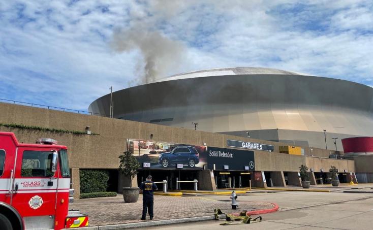 Kigyulladt az NFL-ben szereplő New Orleans Saints stadionja