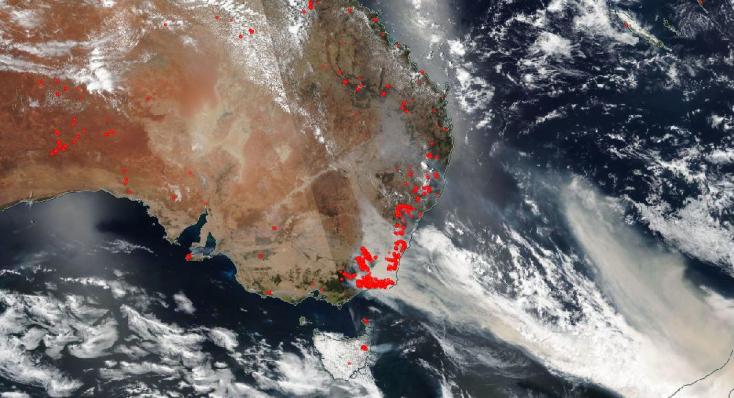 Az ausztráliai tűzvész füstje körbeszállja a Földet!