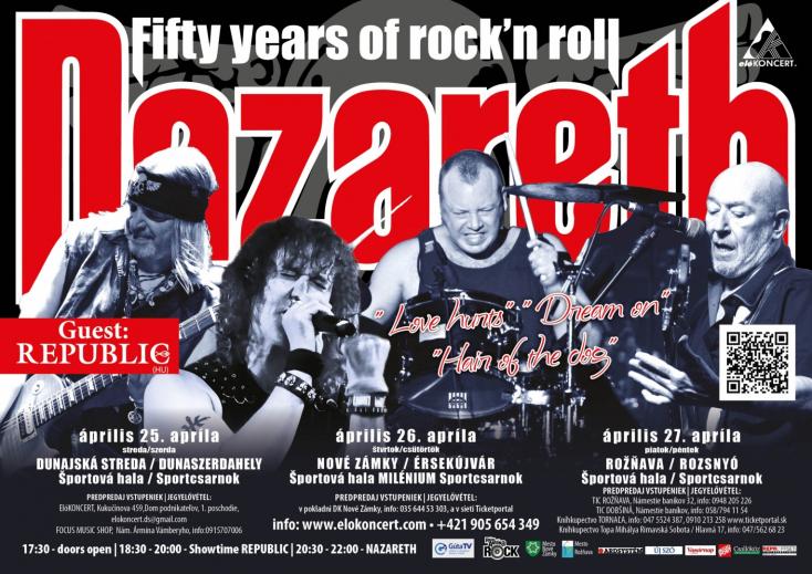 A rocklegenda Nazareth jubileumi turnéja régiónkban!
