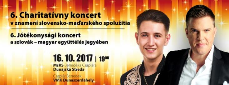 Kasza Tibor, Peter Srámek: 6. jótékonysági koncert a szlovák-magyar együttélés jegyében Dunaszerdahelyen!