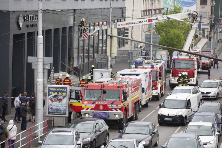 Pozsonyközpontjában kigyulladt egy hotel