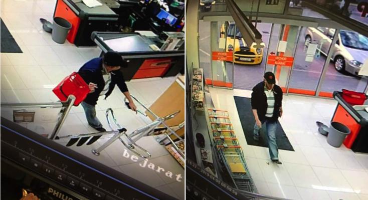 Szerdahelyi pénztárcatolvajt keresnek a zsaruk!