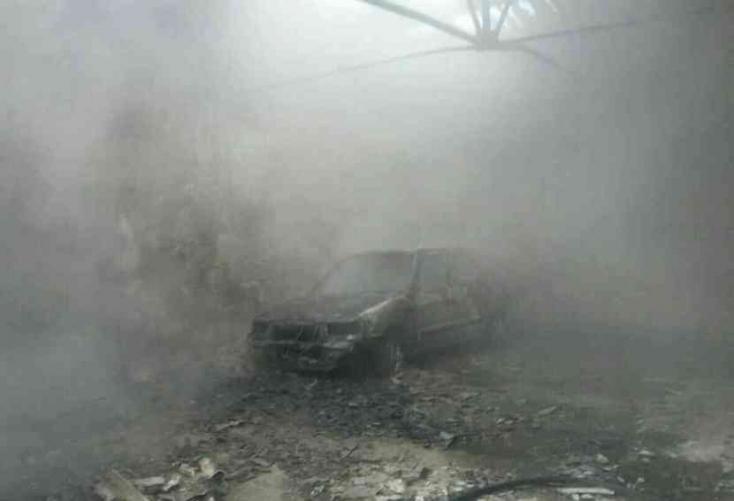 Tűz ütött ki egy nagymegyeri autószerelő-műhelynél!