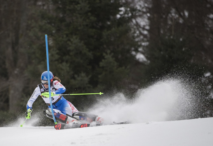 Alpesi vk - Petra Vlhová második helyen végzett műlesiklásban