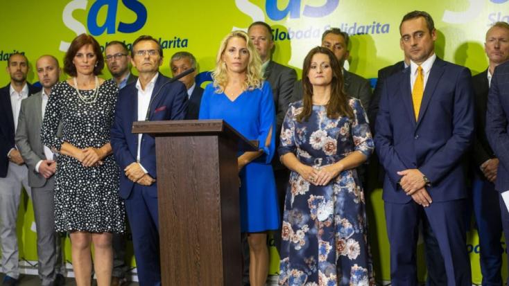 A szétesés küszöbén az SaS: Blahová lemondott a frakcióvezetői posztról, a párt alelnöke is távozik
