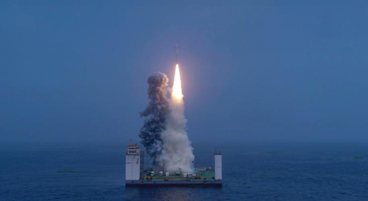Sikeresen fellőttek tengeri platformról egy űrhajótKínában