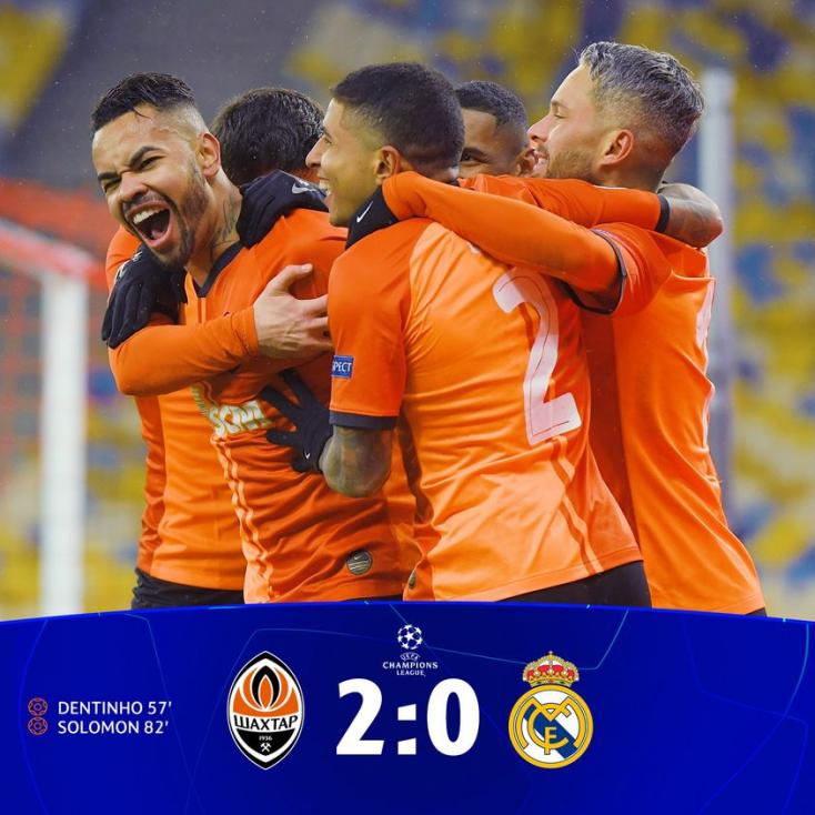 Bajnokok Ligája: az ukrán Sahtar kifektette a Real Madridot