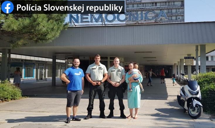 Ez a két rendőr segített bejutni egy szülő anyukának a pozsonyi kórházba