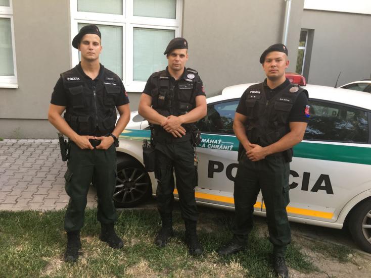 Életet mentettek a galántai rendőrök!