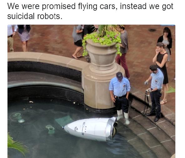 """Ez megy Amerikában: """"eldobta magától az életet"""" egy biztonsági robot"""