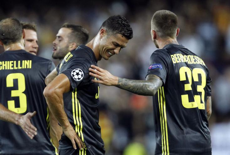 BL: Dulakodás miatt félóra után kiállították Ronaldót, de a Juve így is nyert (Videók)