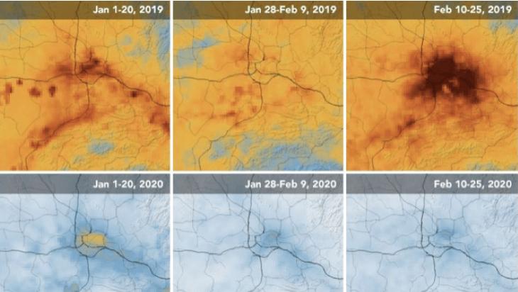 Kitisztult a levegő Kína fölött a koronavírus-járvány nyomán