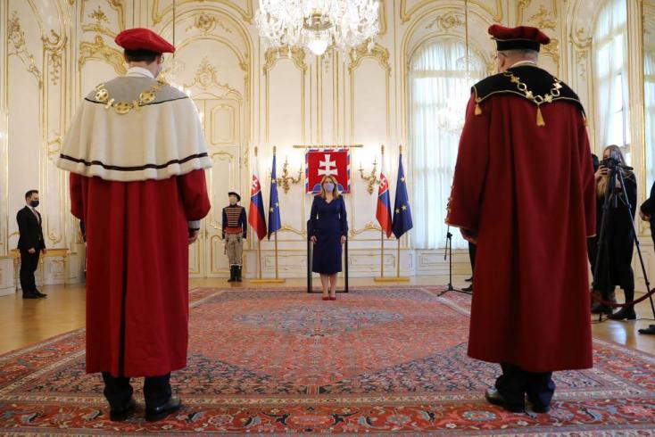 Čaputová kinevezte a Selye János Egyetem rektorát, és méltatta a komáromi intézményt