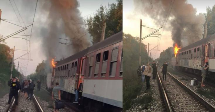 Lángolt egy vonat Vágsellye és Galánta között
