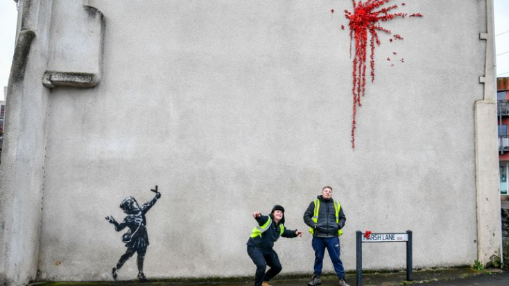 BanksyBálint-napi ajándékot adottszülővárosának,Bristolnak