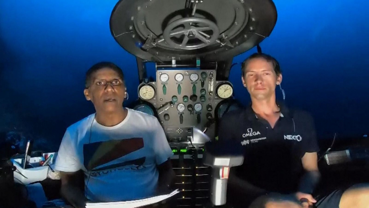 Egy tengeralattjáróból szólított fel az óceánok hatékonyabb védelmére a Seychelle-szigetek elnöke