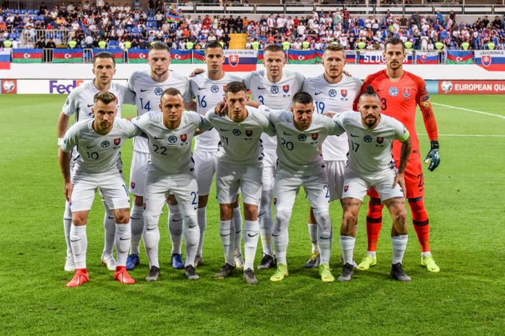 Eb-selejtező:a szlovákok öt gólt rúgva elvitték a három pontot Bakuból