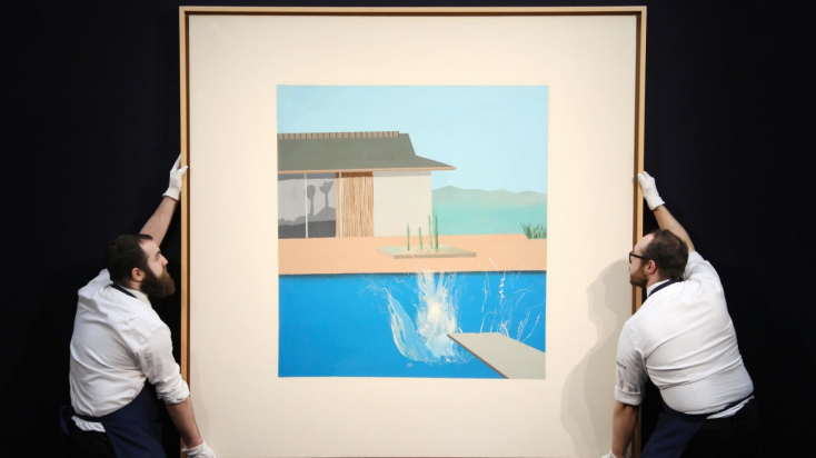 23millió fontért talált gazdára egy David Hockney-festmény Londonban