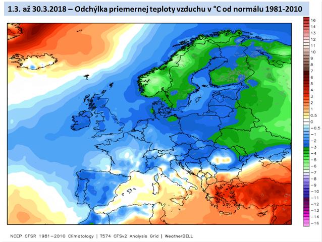 A március hidegebb volt az átlagosnál