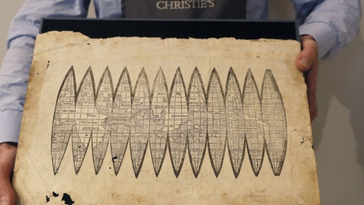 Több mint ötszáz éves, az Újvilágot először Amerikának nevező térképet árvereznek el