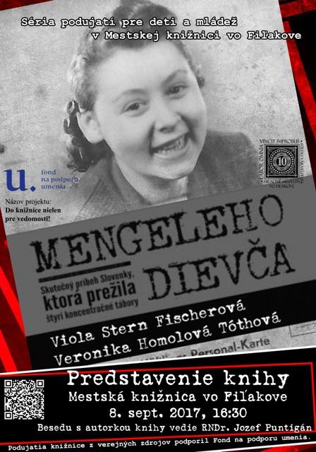 A Mengele lánya c. életrajzi regény bemutatója és beszélgetés a könyv társszerzőjével a Füleki