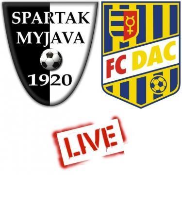 Fortuna Liga: Spartak Myjava - FC DAC 1904 3:1 (Online)