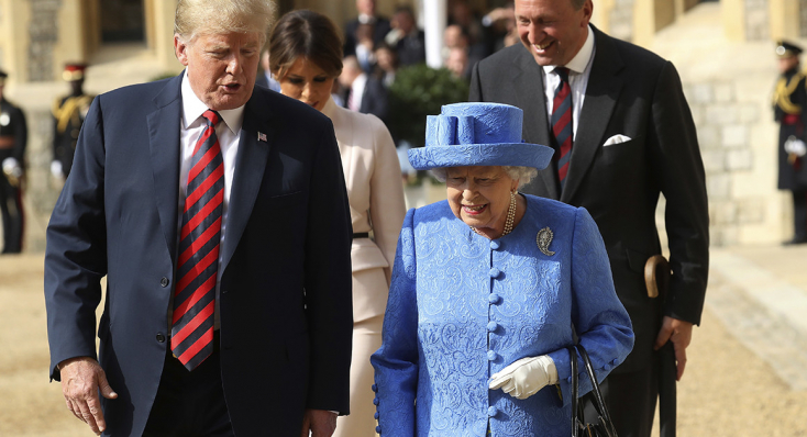 Donald Trump II. Erzsébet királynő vendége lesz júniusban (VIDEÓ)