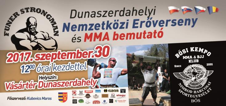 Nemzetközi erőverseny és MMA bemutató Dunaszerdahelyen!