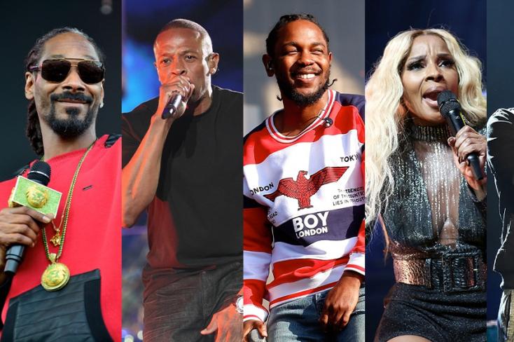 Együtt áll színpadra Snoop Dogg, Kendrick Lamar,Eminem,Dr. Dre és Mary J. Blige a Super Bowl-on