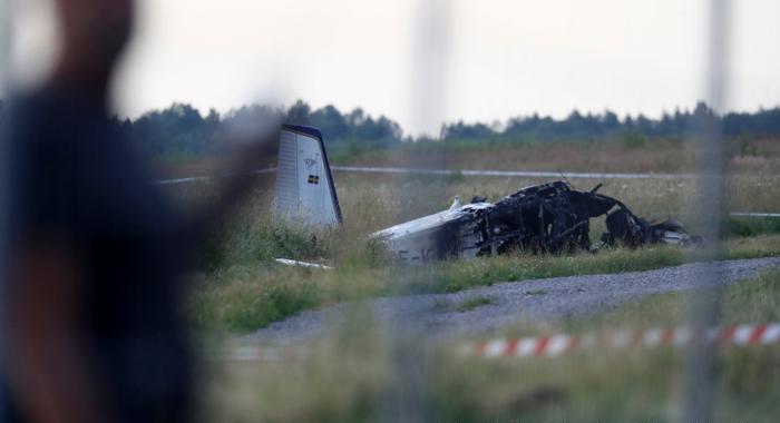 Kilenc ember meghalt, miután lezuhant egy kisrepülőgépSvédországban