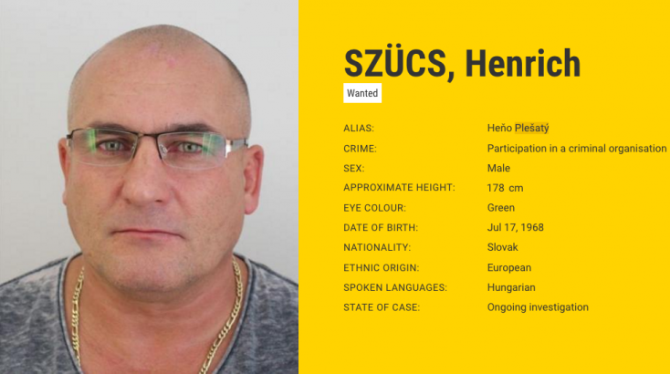 Önként feladta magát a rendőrségen Szlovákia egyik legkeresettebb bűnözője, Szűcs Henrich!