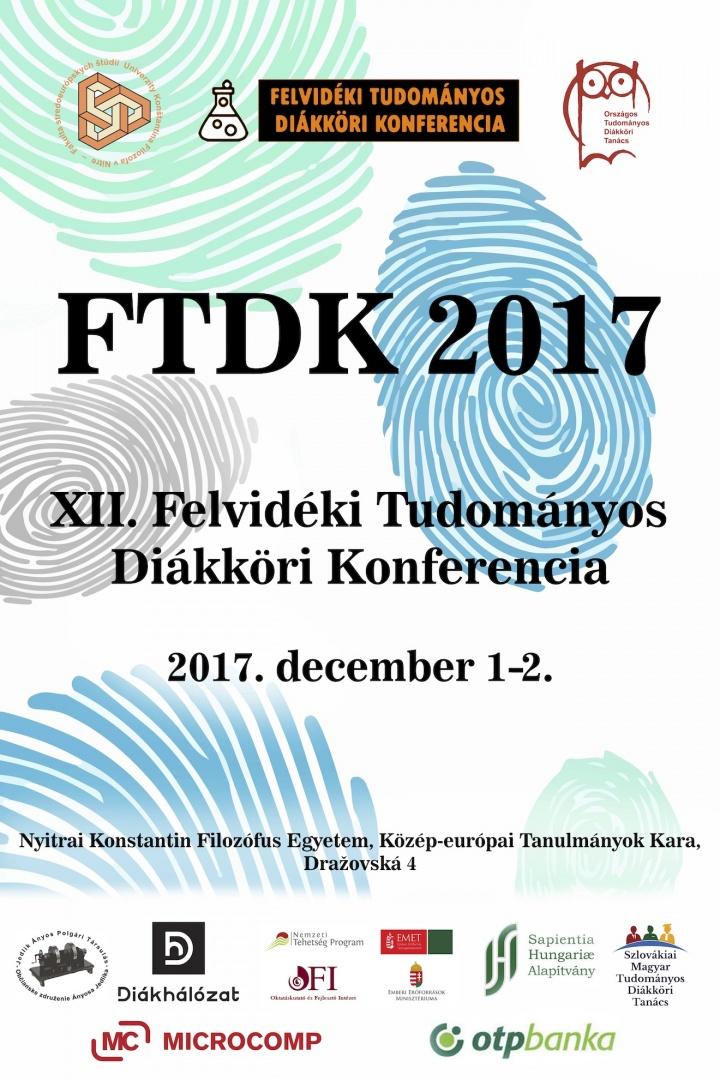 XII. Felvidéki Tudományos Diákköri Konferencia a Nyitrai Konstantin Filozófus Egyetem Közép-európai Tanulmányok Karán