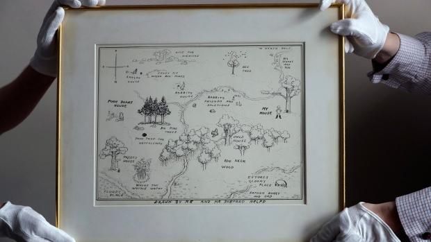 Rekordáron kelt el a Micimackó első kiadásának Százholdas pagony-térképe