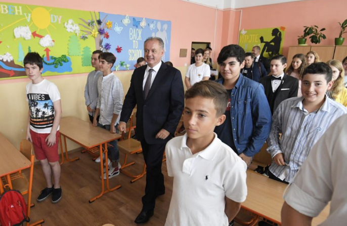 Andrej Kiska: Az oktatásnak az ország prioritásai közé kell tartoznia