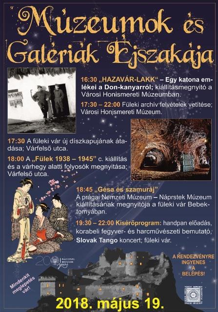 Múzeumok és Galériák Éjszakája Füleken