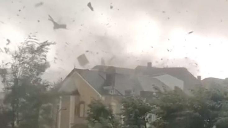 Tornádó tombolt Luxemburgban, többen megsérültek - VIDEÓ