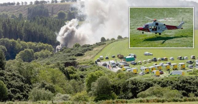 """Kisiklott egy vonat Skóciában, a kormányfő szerint """"rendkívül súlyos baleset"""" történt"""