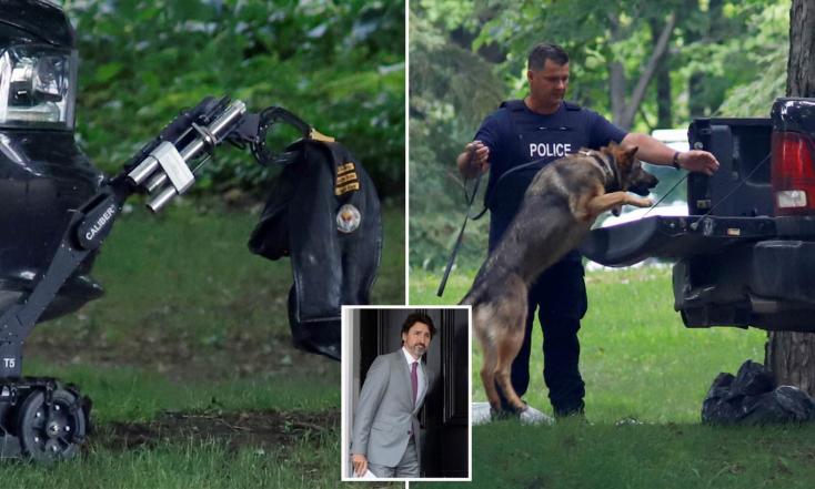 Teherautóval rontott be egy fegyveres férfi a kanadai kormányfő lakhelyére
