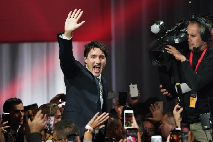 Kisebbségi kormányt alakíthat Trudeau Kanadai Liberális Pártja